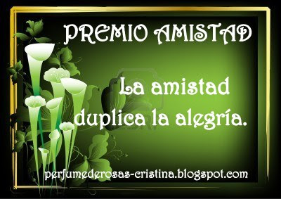 PREMIO AMISTAD (CRISTINA).