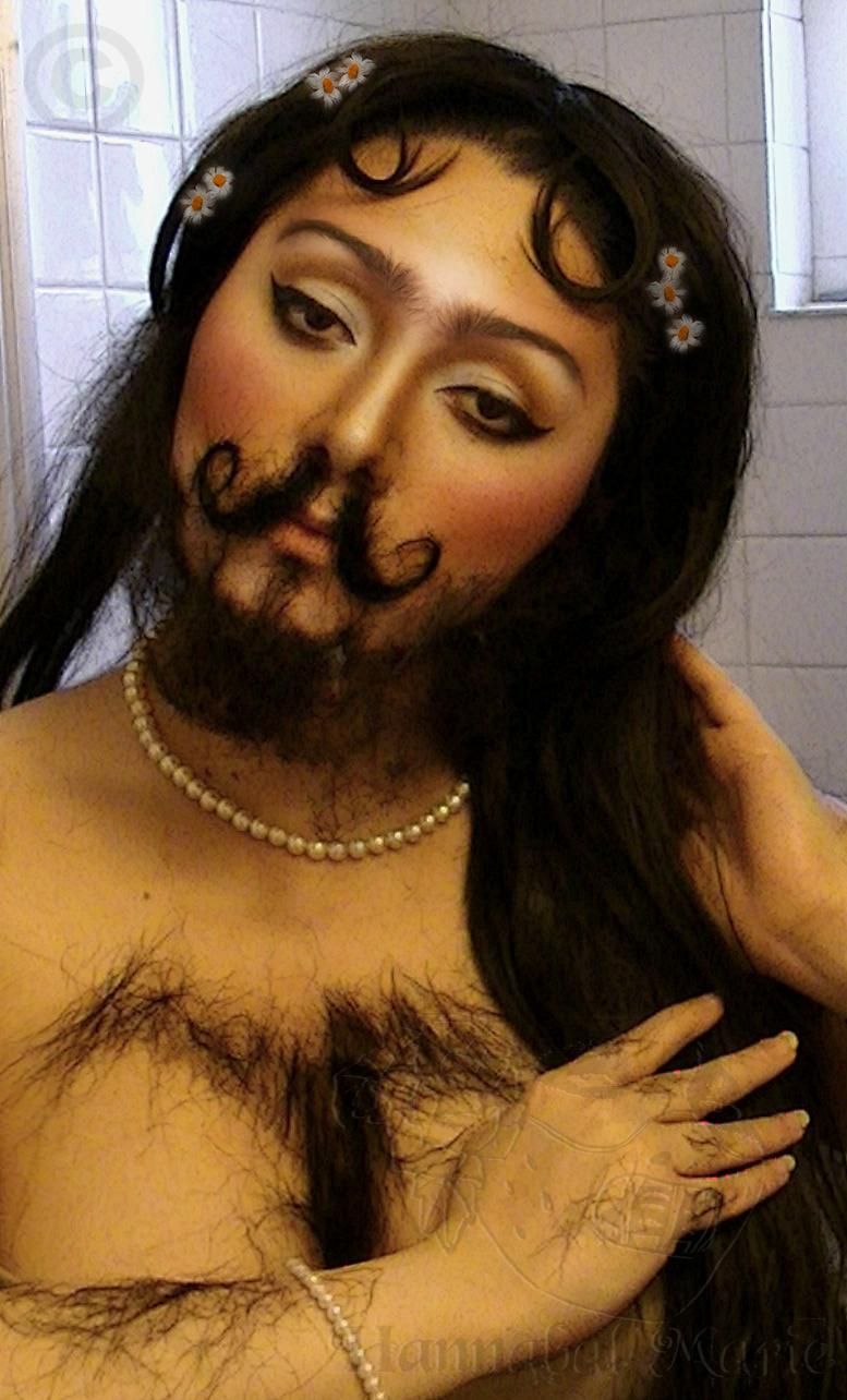 Hannabal marie circus freek show series the bearded lady for Tattoo freak costume