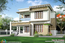Two Elevation With House Plan - Kerala Home