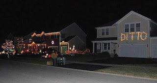 Home with Christmas Lights