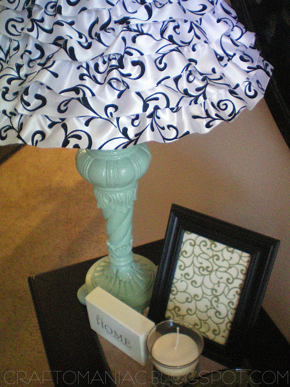 Diy ruffled lamp using wire ribbon mozeypictures Gallery