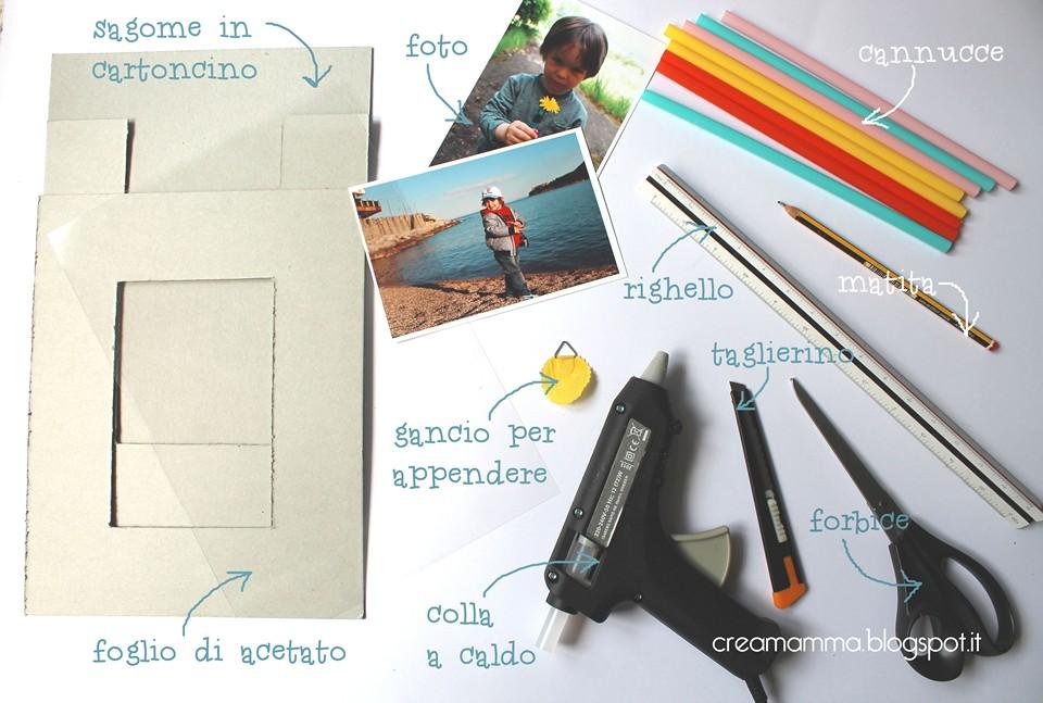 Popolare Diario di una Creamamma: Portafoto fai da te decorato con le cannucce UP66