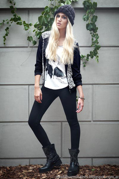 Moda invierno 2014 ropa de mujer casual urbana.