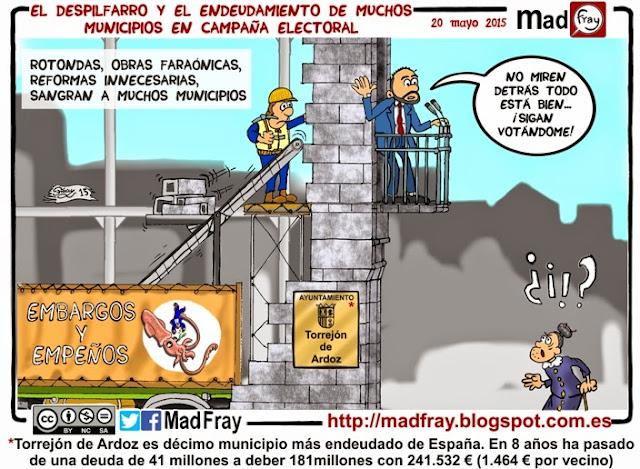 Viñeta: Los alcaldes que han arruinado sus pueblos quieres que les vuelvas a votar