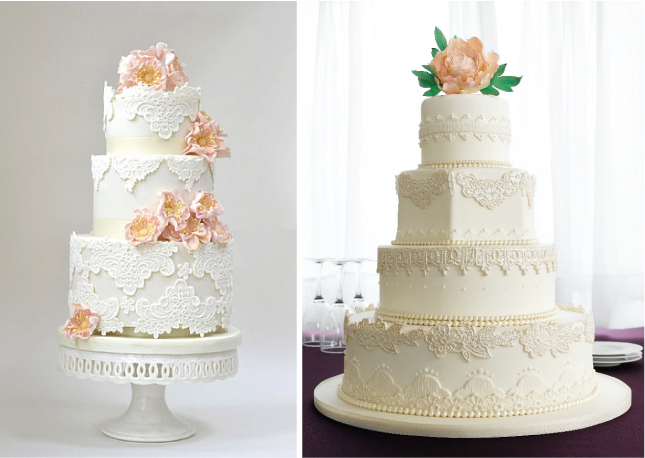 Gallery For Vintage Modern Wedding Cake
