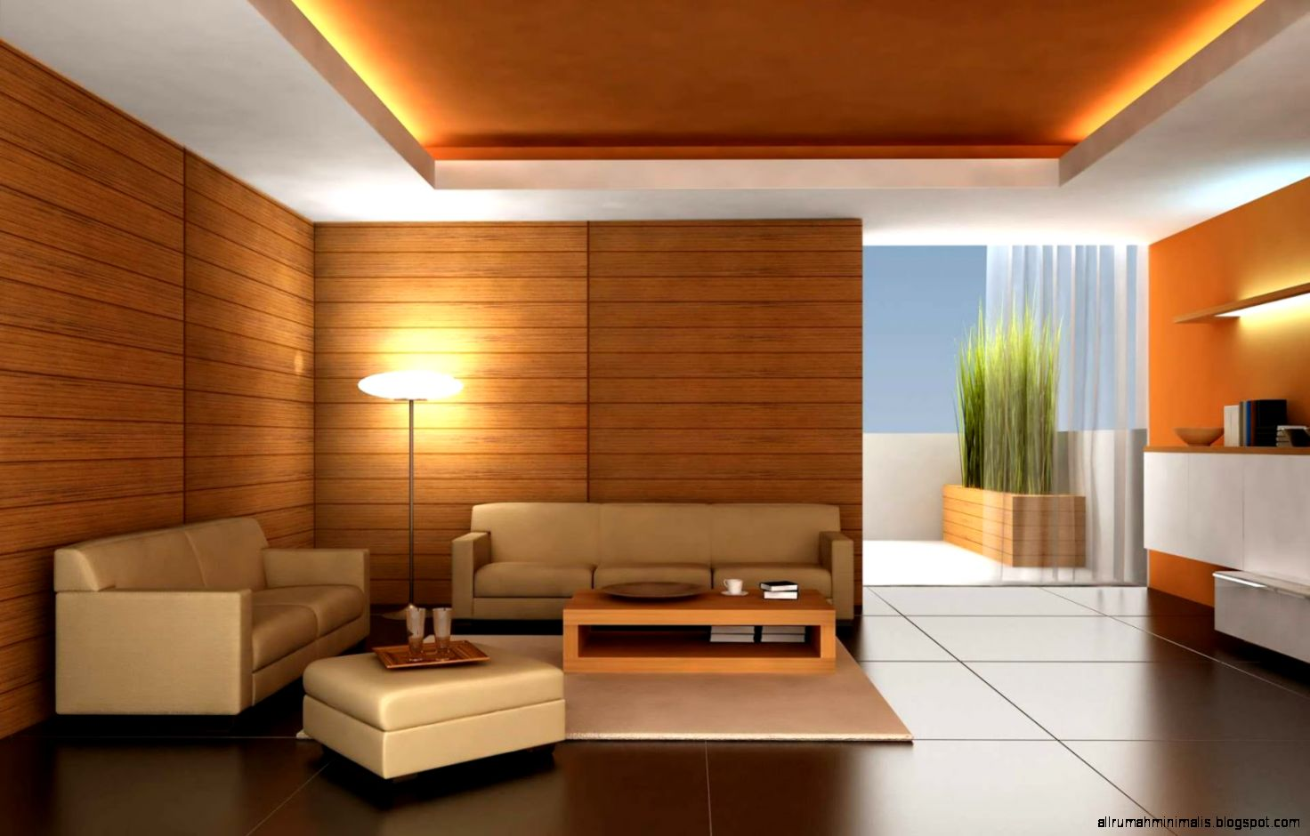 beberapa contoh desain dan model warna interior rumah minimalis
