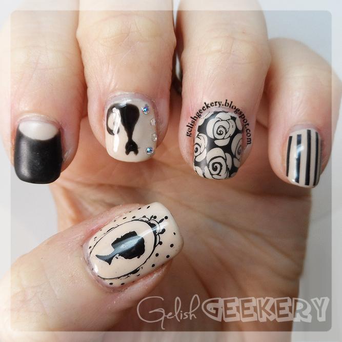 Gelish Nude And Black Paris MoYou Nails