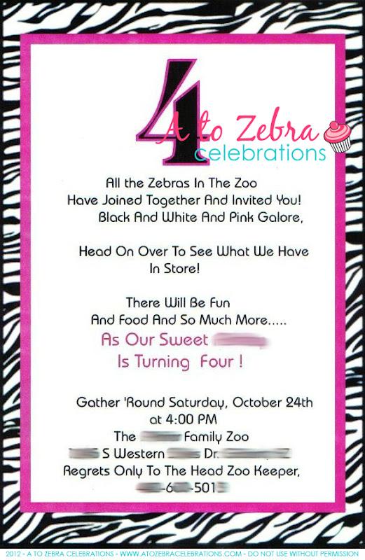 Zebra birthday party a to zebra celebrations zebra birthday party stopboris Images