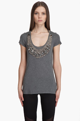 Rhinestone Necklace Tee