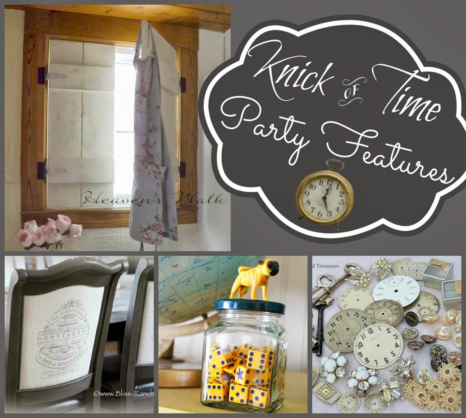 Vintage Home Decor Link Party at Knick of Time