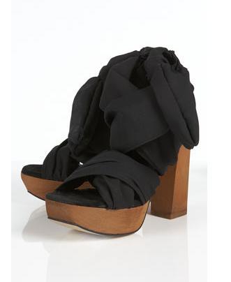 wooden platform sandals. Wooden Platform Block Heel
