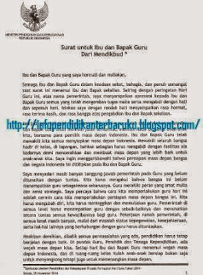 gambar Surat Untuk Guru Indonesia Dari Kemendikbud