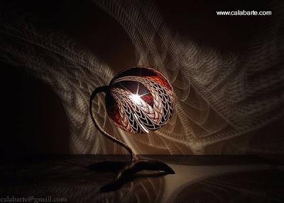 Lámpara artesanal africana