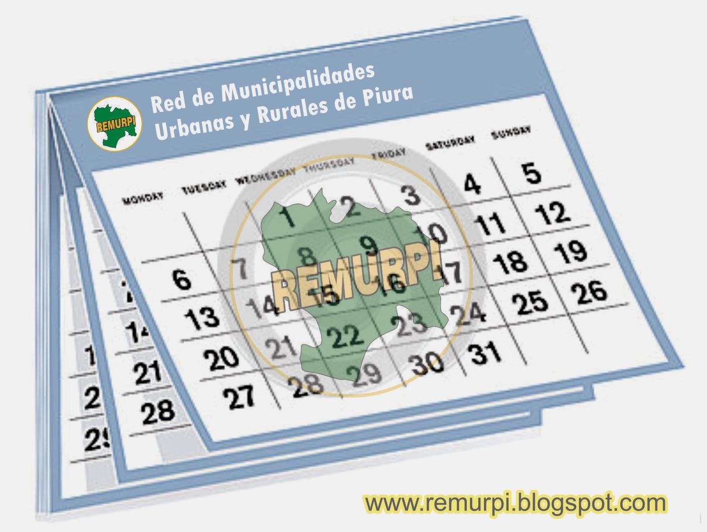 Calendario 2014 Peru - Con Feriados Para El Sector Publico (Google