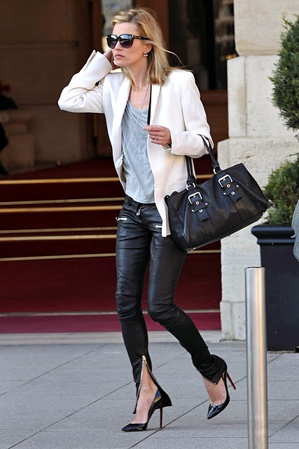 pastel blonde: kate moss street style: fall