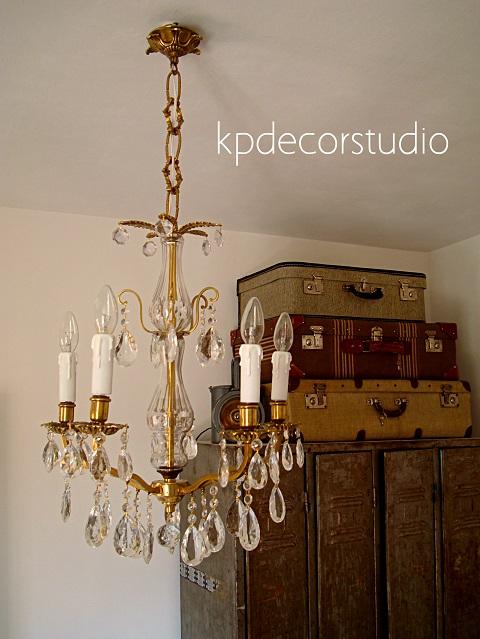Kp tienda vintage online l mpara antigua de l grimas y - Lamparas cristal antiguas ...