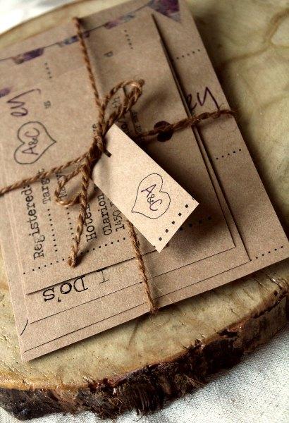 Parte De Matrimonio Rustico : Muyameno tarjetas de boda rusticas parte