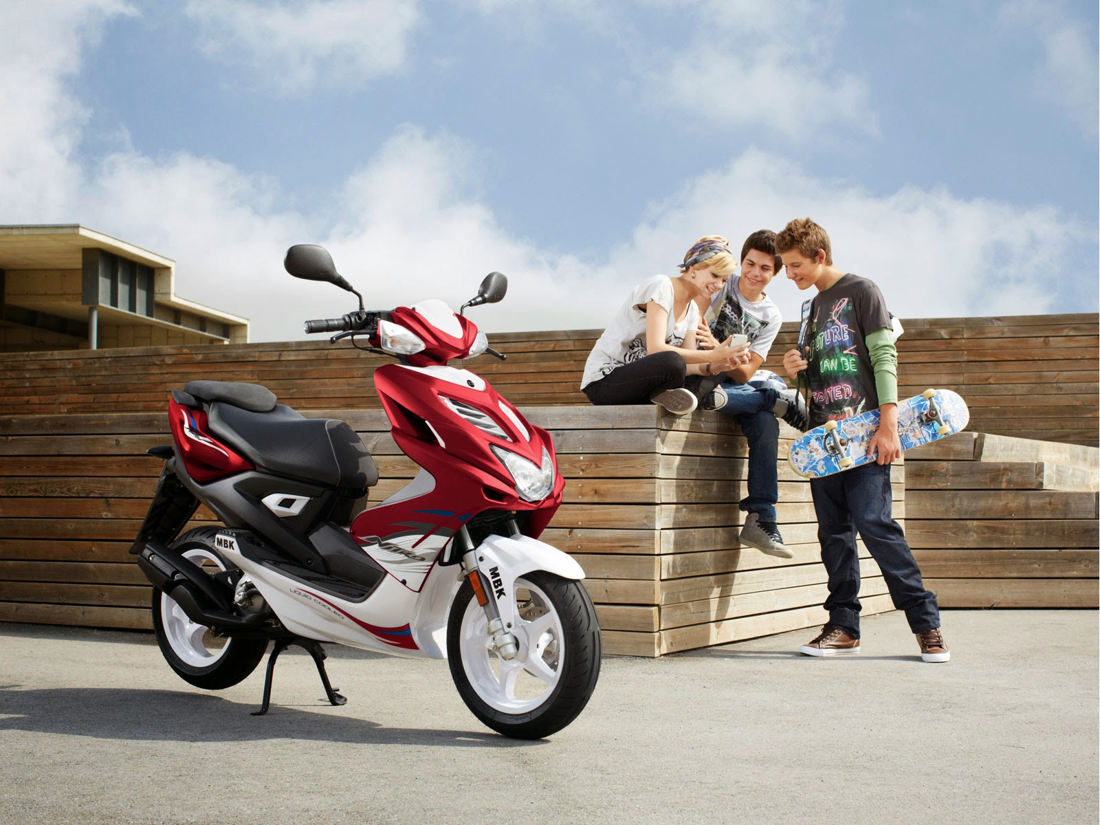 MBK Nitro New Red Scooty Collections