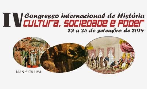 IV CONGRESSO INTERNACIONAL DE HISTÓRIA