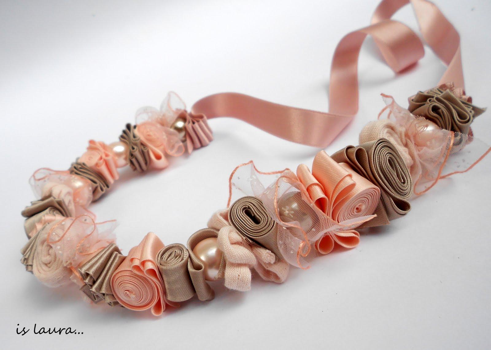 collane con nastri e perle