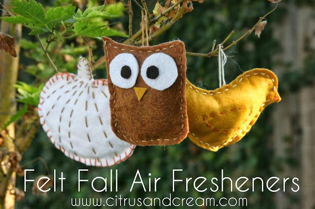 DIY Felt Fall Air Fresheners