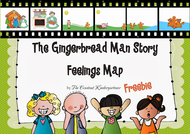 ... Childhood Educators.: The Gingerbread Man Story - Feelings Map FREE