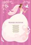 wedding invitation vector illustration