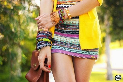Love all the color detail of this spring outfit. Bring spring with your clothing