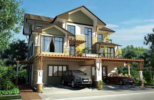 Modern asian exterior house design ideas exotic house for Exterior house design ideas