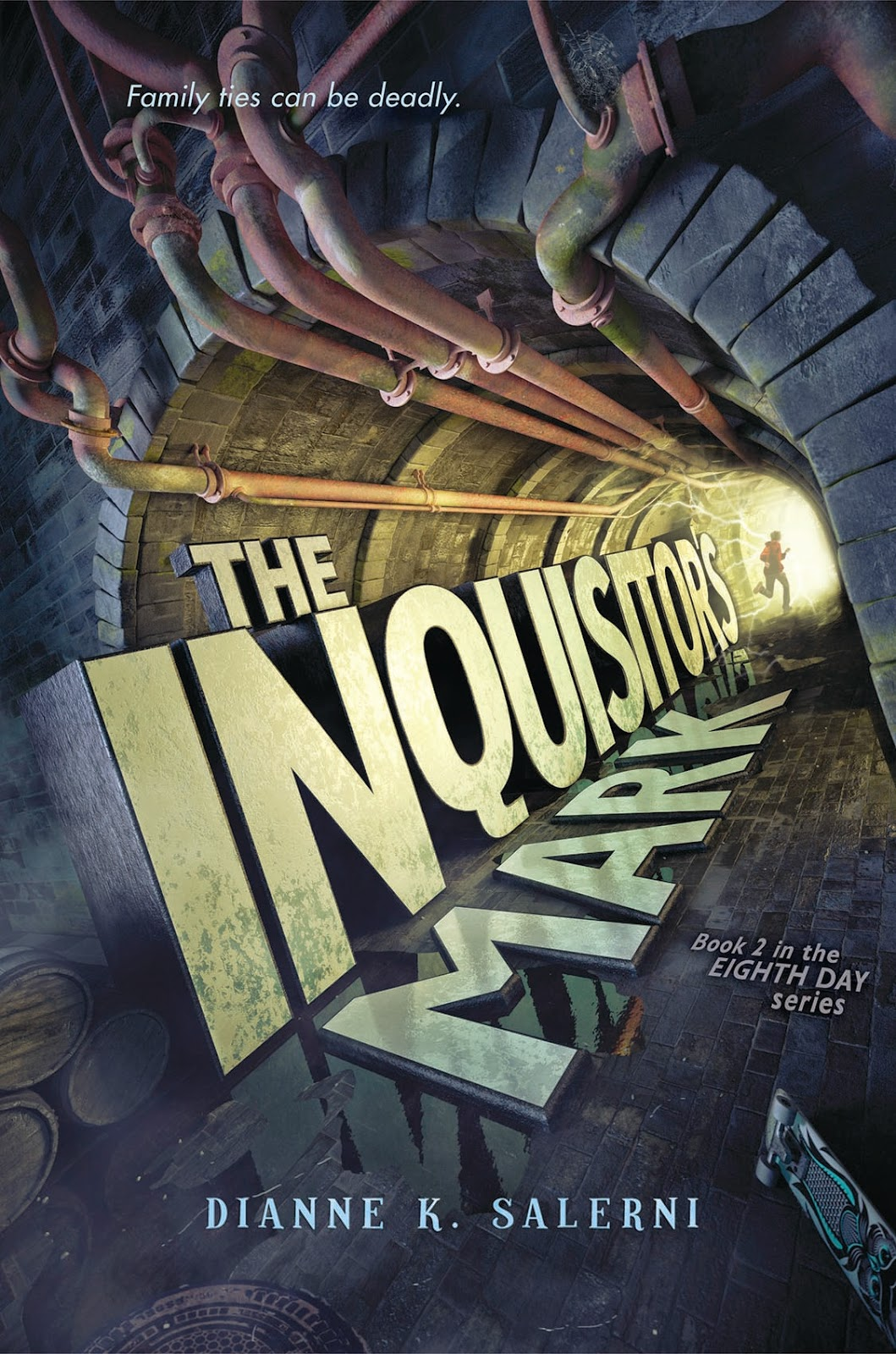 http://www.amazon.com/Inquisitors-Mark-Eighth-Day/dp/0062272187/ref=sr_1_1?ie=UTF8&qid=1423751344&sr=8-1&keywords=the+inquisitor%27s+mark