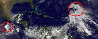 Potenzielle Tropische Stürme KENNETH (Pazifik) und TAMMY (Atlantik), Tammy, Kenneth, Atlantik, Nordost-Pazifik, Pazifik, aktuell, November, 2011, Hurrikansaison 2011, Satellitenbild Satellitenbilder,