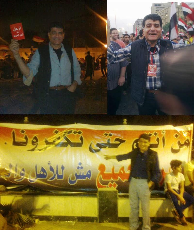 الدكتور النشائى فى مظاهرات 30 يونيو