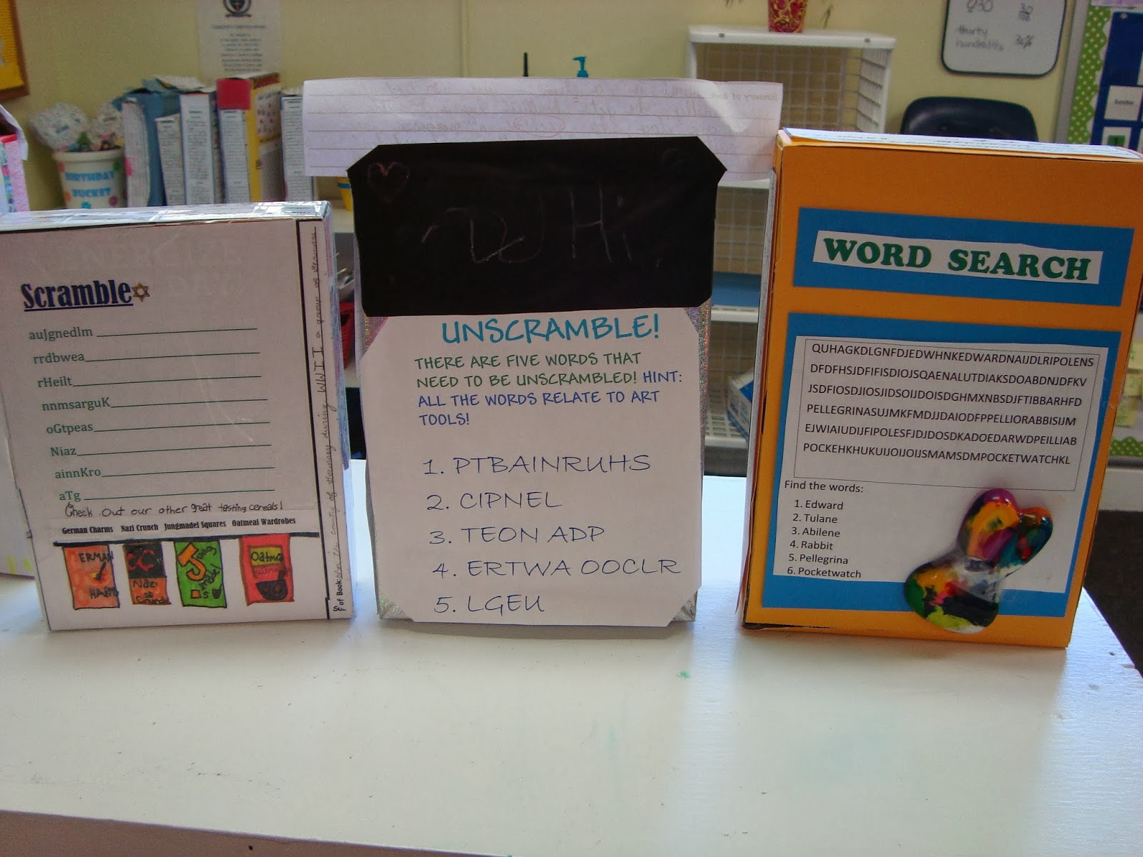 book report in a cereal box