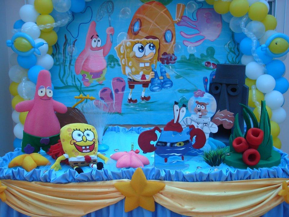 Festa Bob Esponja - Decoração de festa infantil Bob Esponja