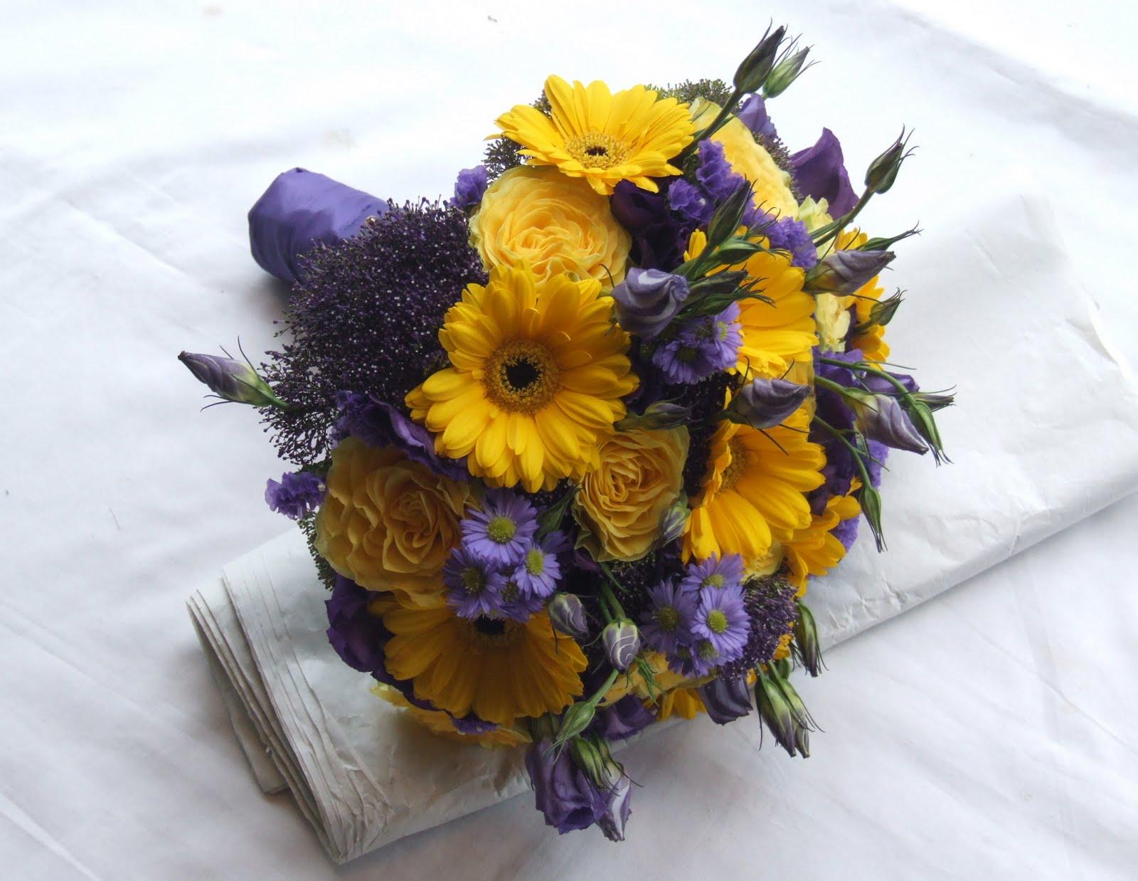 Rjs Florist Purple And Yellow Wedding Flowers