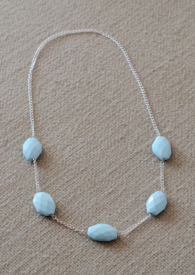 Stone Beaded Simple Necklace