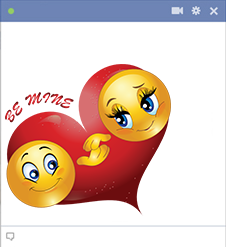 Be mine Facebook smiley