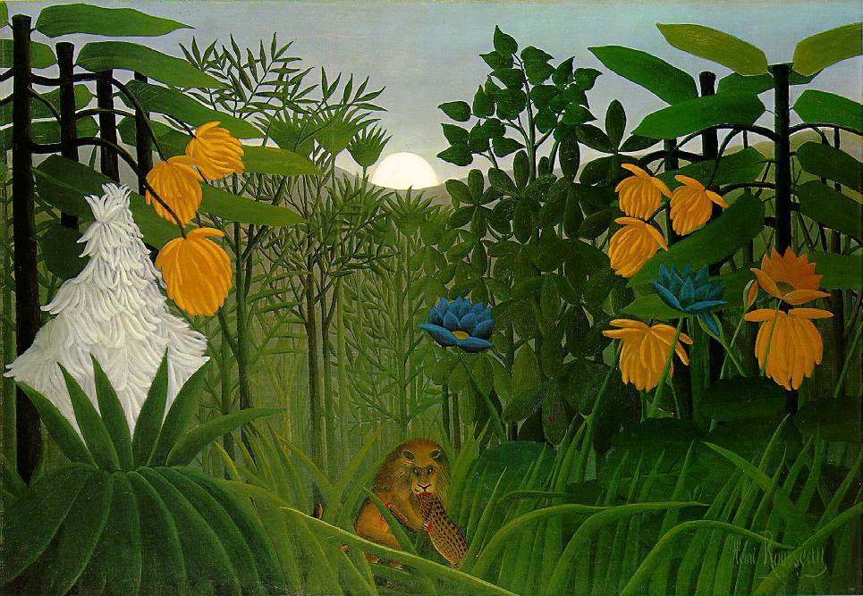 henri rousseau jungle