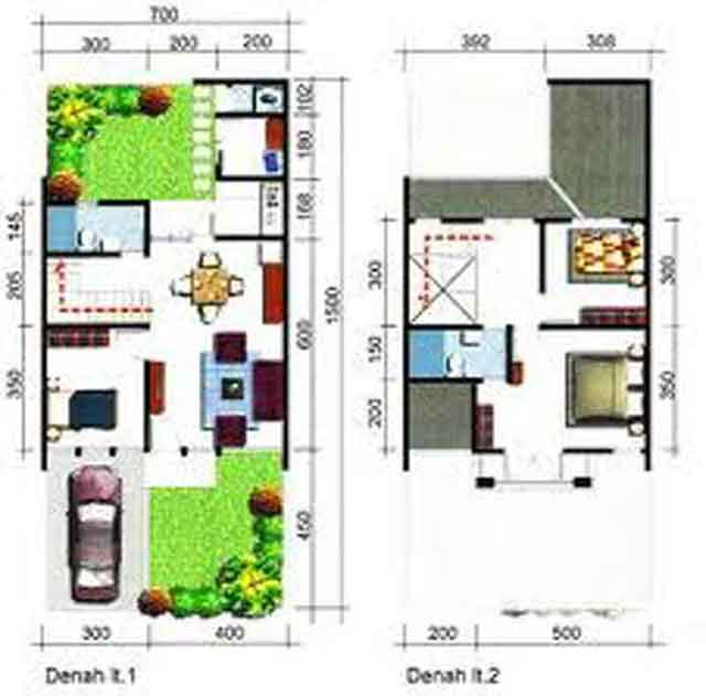 Rumah Sederhana KPR BTN 2 Lantai 105 m2 2015