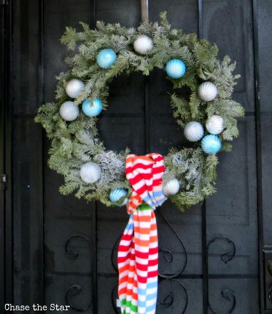 Christmas, holiday, decor, simple, blogger house, wreath