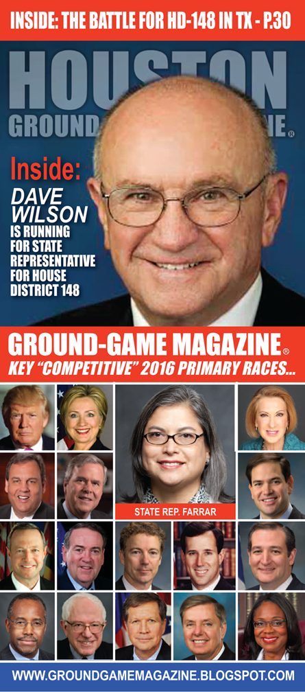 VOL. 1 NO. 15 GROUND GAME MAGAZINE FEATURING DAVE WILSON AND STATE REP. JESSICA FARRAR