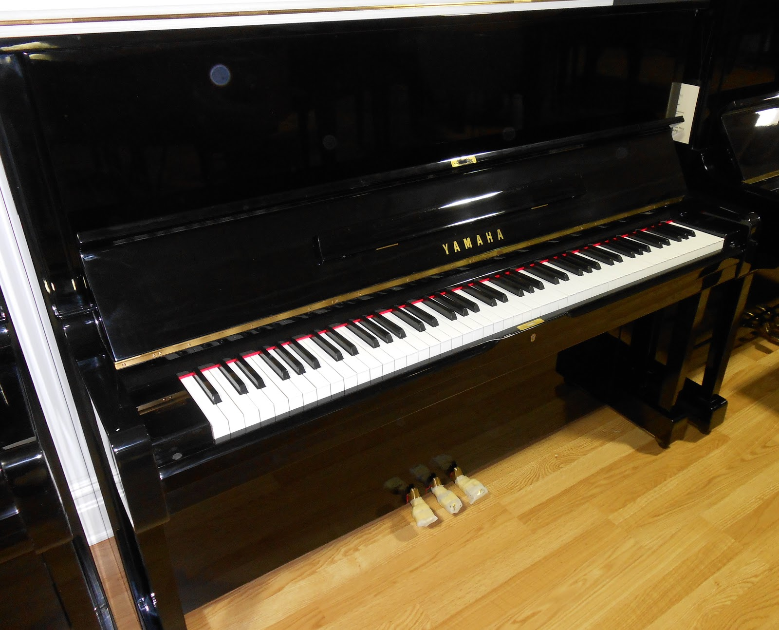 Yamaha u1 upright piano polished ebony ebay for Used yamaha u1 price