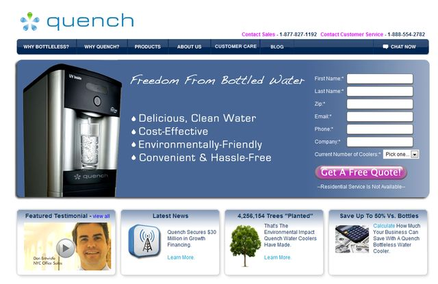 Water Filtration Systems for Office - Reviews from QuenchOnline.com