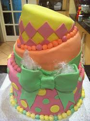 3 Tier Topsy Turvy cake