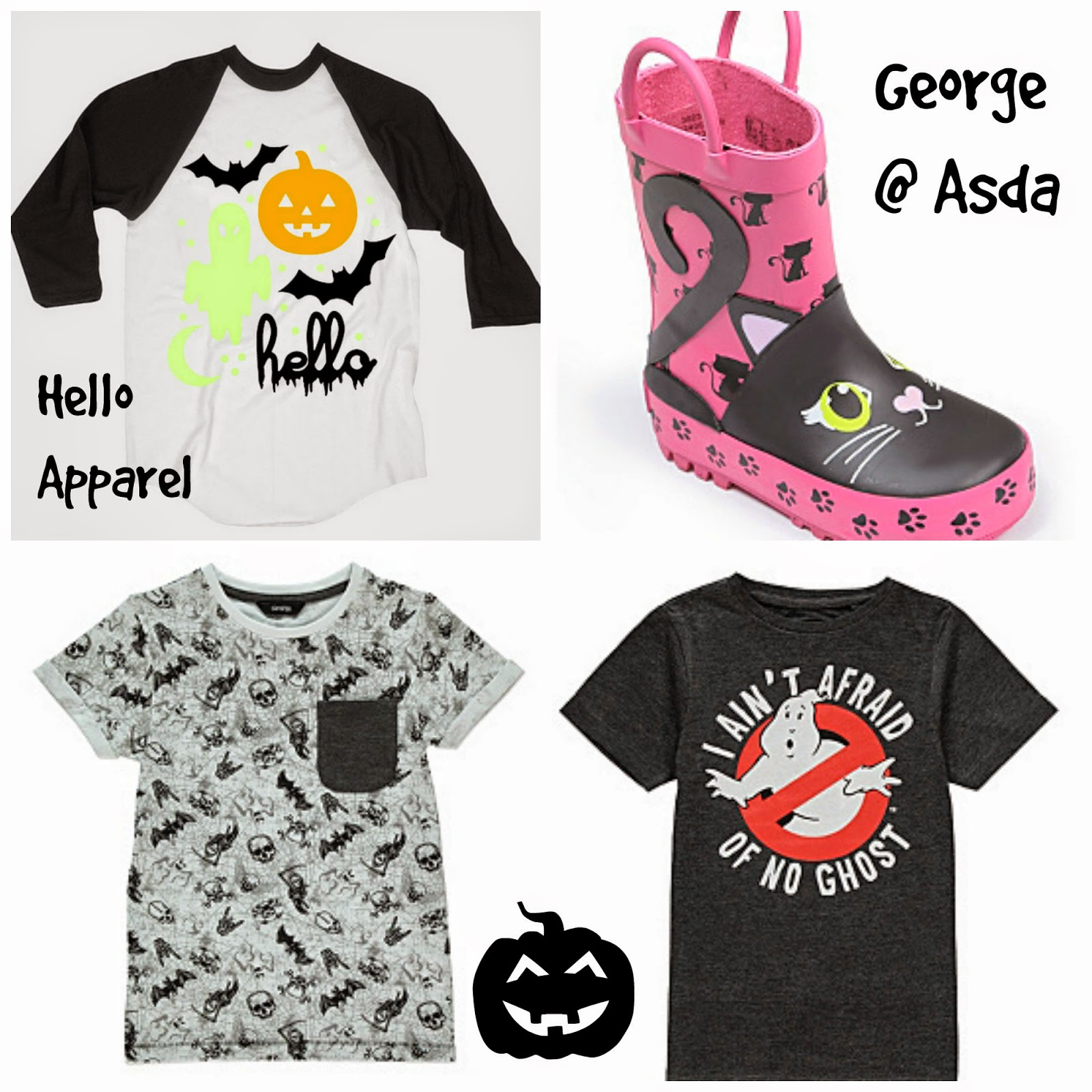 Kids Halloween Fashion Hello Apparel George at Asda