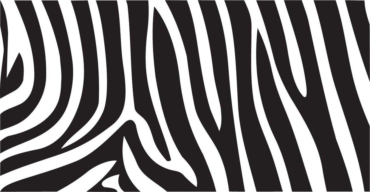 Zebra Print Vector by inferlogicOrange Zebra Print Pattern