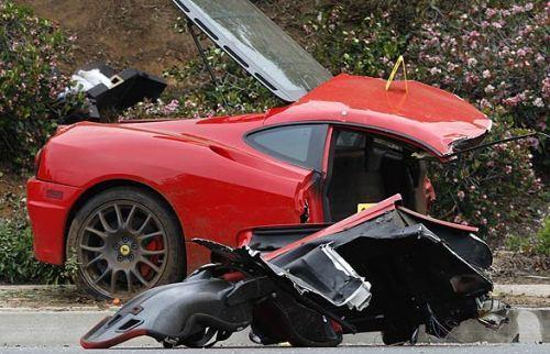 Smart Car Ferrari Accident