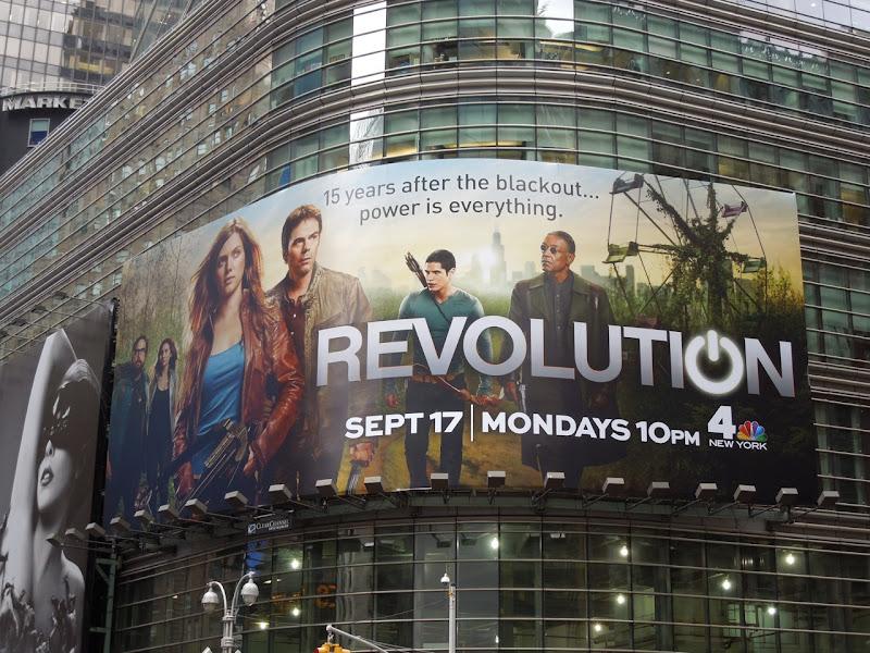 Revolution billboard Times Square NYC