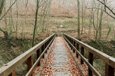 Drveni most pored slapa Sopot