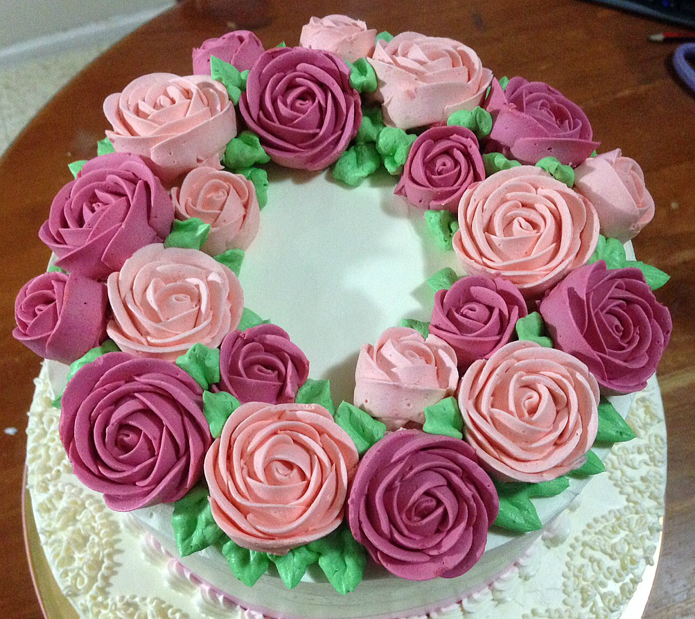 Heart of Mary: Buttercream rose wreath